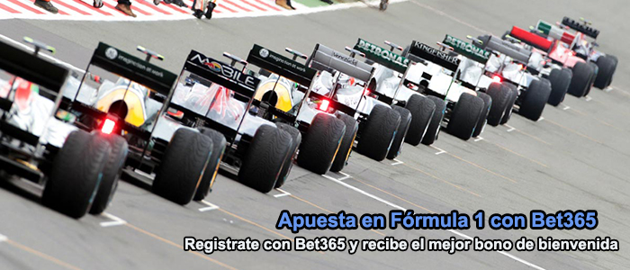 Apuesta en Fórmula 1 con Bet365