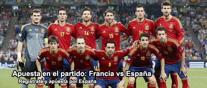 Apuesta en el partido Francia vs España
