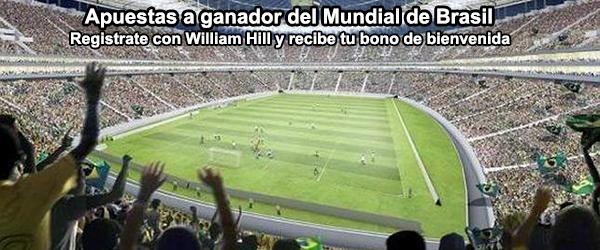 Apuestas a ganador del Mundial de Brasil en William Hill
