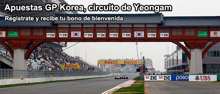 Apuestas GP Korea, circuito de Yeongam