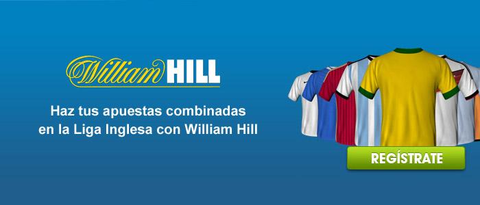 Haz tus apuestas combinadas en la Liga Inglesa con William Hill