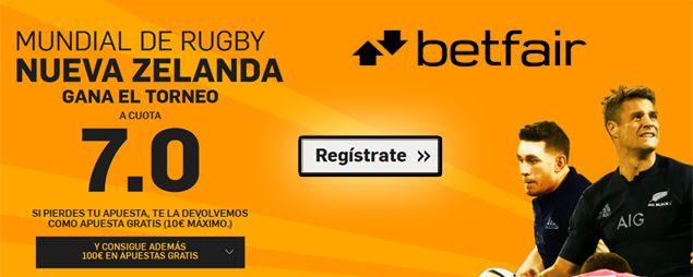 Supercuota Betfair para el mundial de Rugby 2015