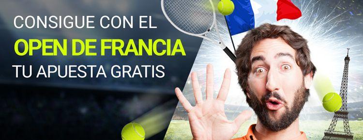 Gana una apuesta gratis apostando en el Open de Francia