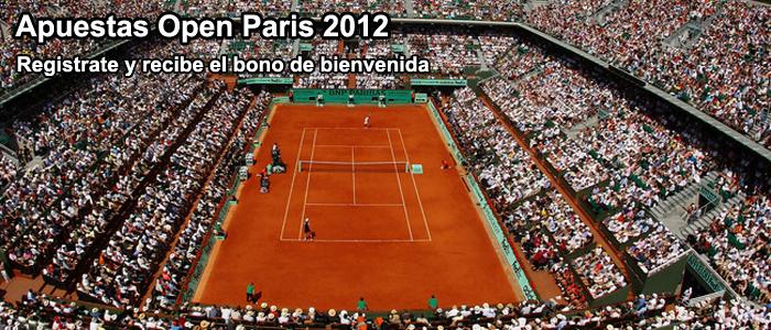 Apuestas Open Paris 2012