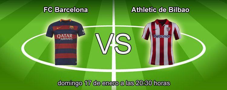 Athletic Bilbao se enfrenta al FC Barcelona en la liga BBVA