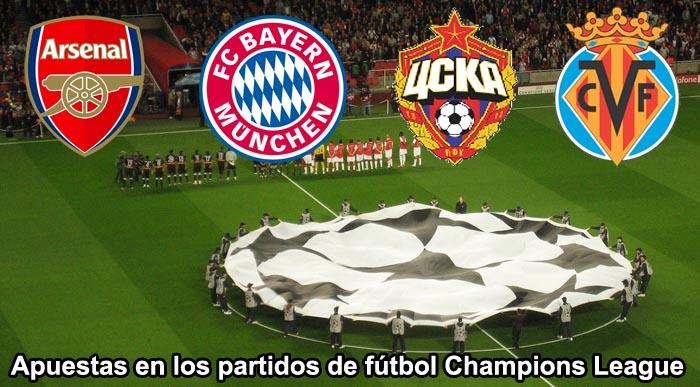 Apuestas partidos de futbol Champions League