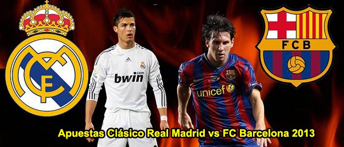 Apuesta en el Clásico: Real Madrid vs FC Barcelona 2013