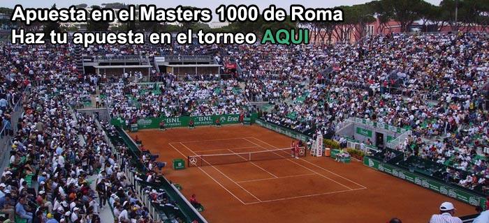 Apuestas tenis, el Masters 1000 Roma