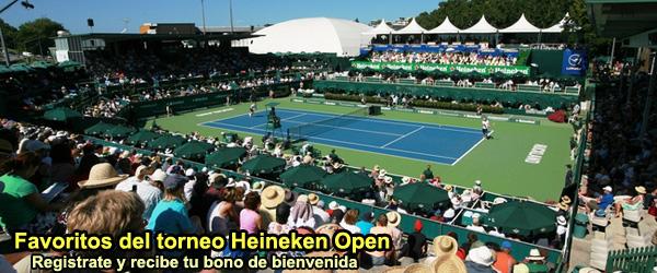 Apuesta por los favoritos del torneo Heineken Open