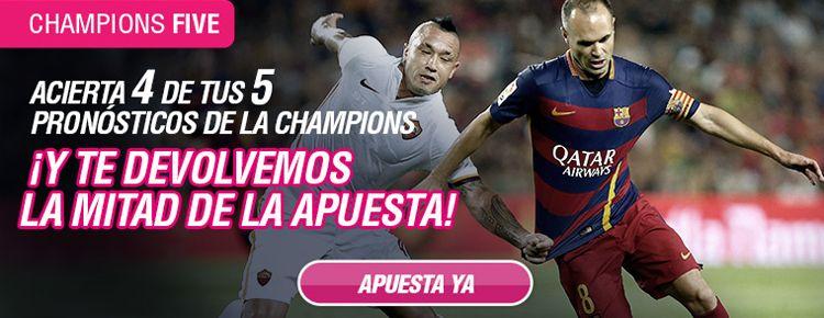 Nueva promocion de Wanabet para Champions y Europa League