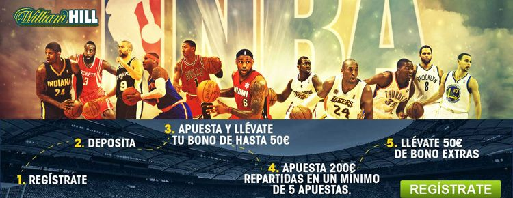 Como apostar con William Hill en los partidos de NBA