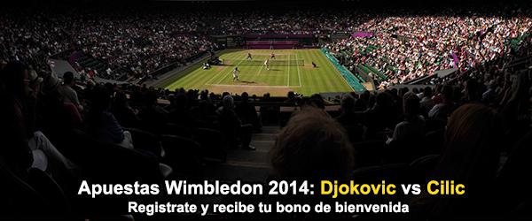 Apuestas Wimbledon 2014: Djokovic vs Cilic