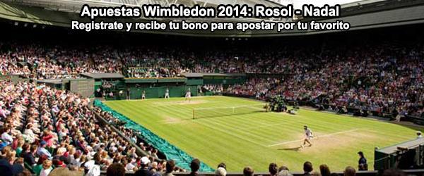 Apuestas Wimbledon 2014: Rosol - Nadal