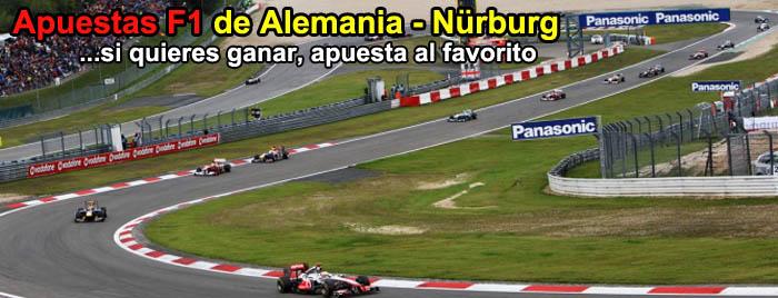 Apuestas F1 de Alemania - Nürburg