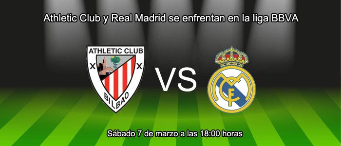 Athletic Club y Real Madrid se enfrentan en la liga BBVA
