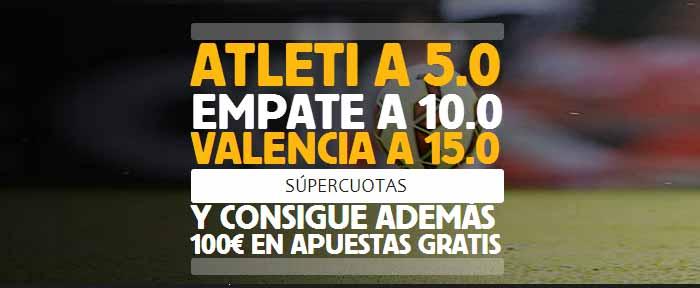 Supercuota Betfair en el partido Atlético Madrid - Valencia
