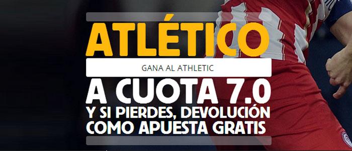 Supercuota de 7.0 por la victoria de Atlético contra Athletic