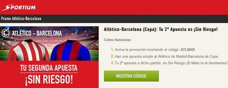 Apuesta sin riesgo en el partido Atlético-Barcelona