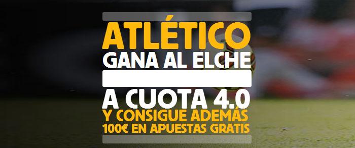Supercuota de 4.0 por la victoria de Atlético contra Elche