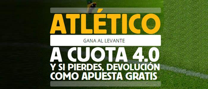 Apuesta con Betfair por la victoria del Atlético contra Levante