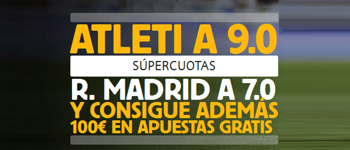 Supercuota Betfair en el partido Atlético Madrid - Real Madrid