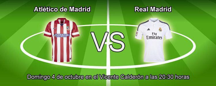 Atletico de Madrid se enfrenta contra el Real Madrid en la liga BBVA