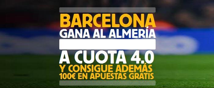Apuesta por la victoria de Barcelona contra Almería