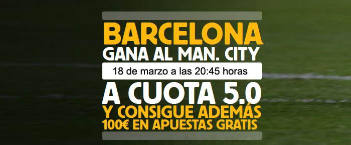Súper Cuota por la victoria de Barcelona ante Manchester City