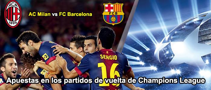 Apuesta en los partidos de vuelta de Champions League 2013