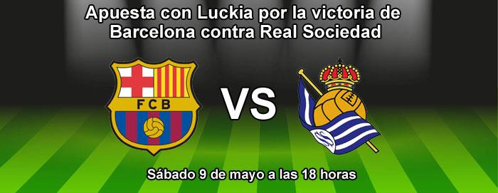 Apuesta con Luckia por la victoria de Barcelona contra Real Sociedad