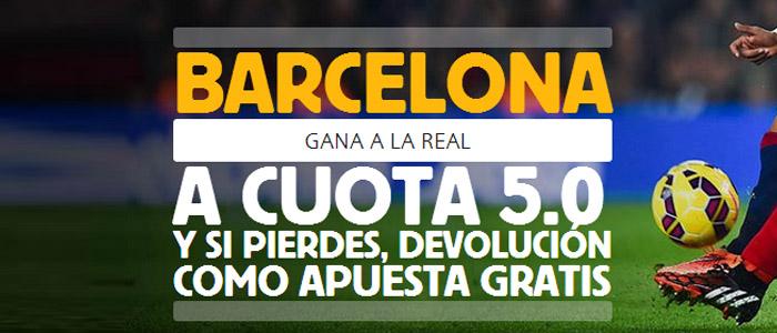 Apuesta por la victoria de Barcelona contra Real Sociedad