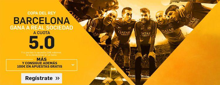 Supercuota por la victoria de Barcelona ante el Real Sociedad
