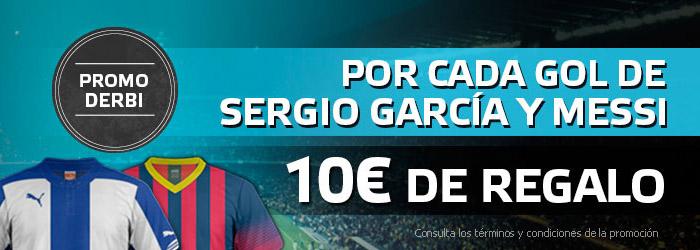 Suertia regala 10€ por cada gol de Sergio García y Messi