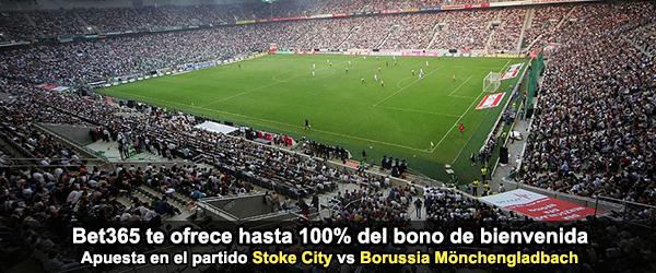 Bet365 te ofrece el partido de Stoke City - Borussia