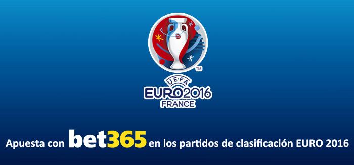 Apuesta con Bet365 en los partidos de clasificación Eurocopa 2016