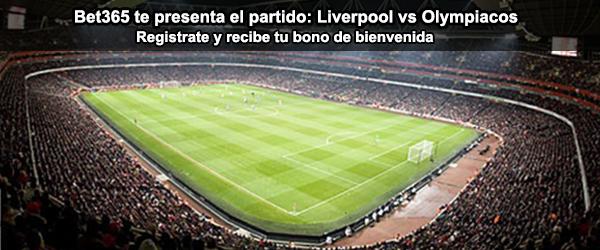Bet365 te presenta el partido de Liverpool contra Olympiacos