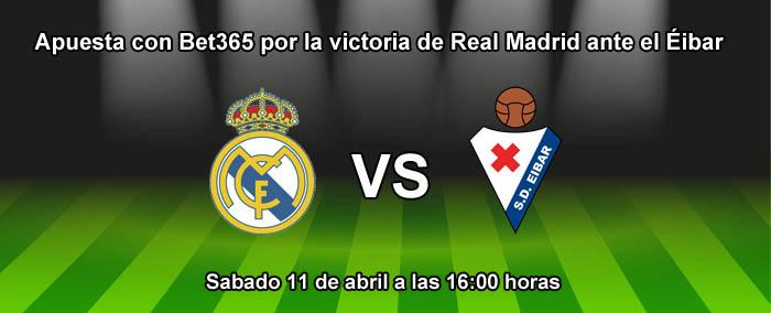 Apuesta con Bet365 por la victoria de Real Madrid ante el Eibar