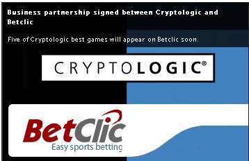 Betclic: Firma acuedos con Cryptologic