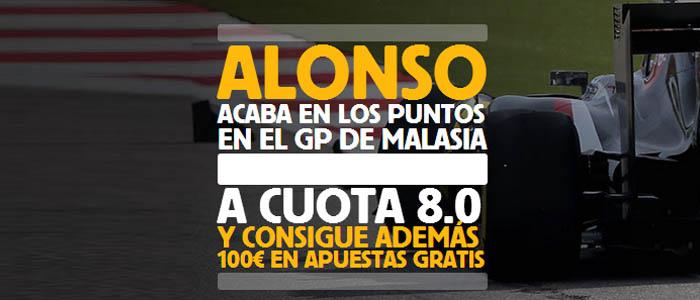 Apuesta por Alonso en el GP de Malasia