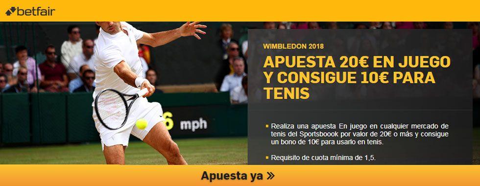 Apuesta con Betfair en los partidos de Wimbledon 2018