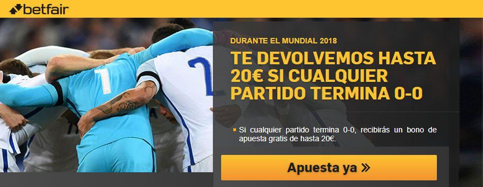 Consigue 20€ en los partidos del Mundial