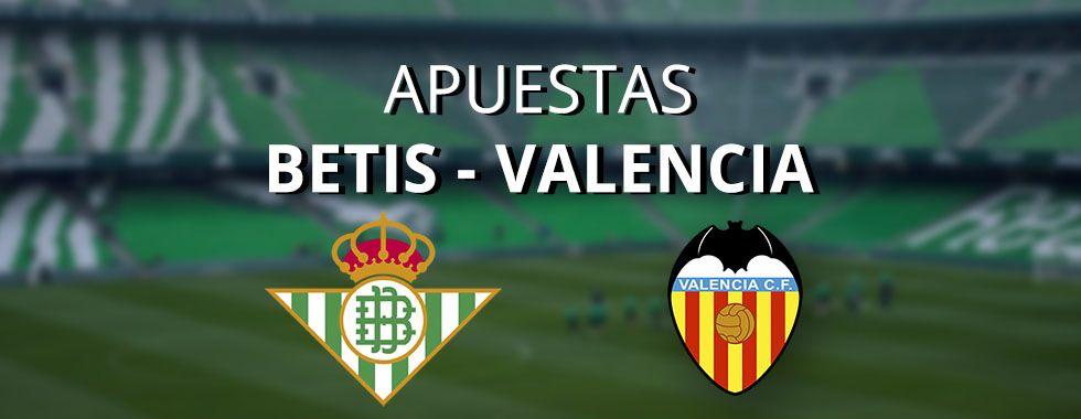 Apuestas al partido entre Betis - Valencia