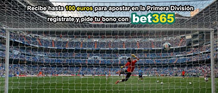 Recibe hasta 100 euros para apostar en la Primera División