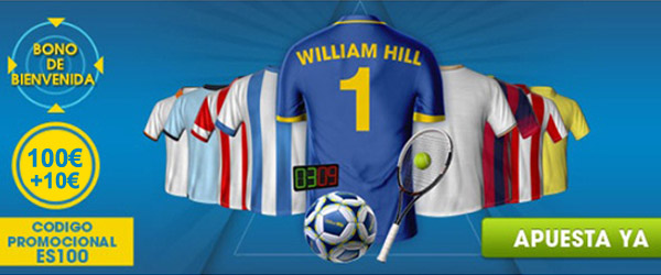 Recibe 100+10 € para empezar apostar con William Hill