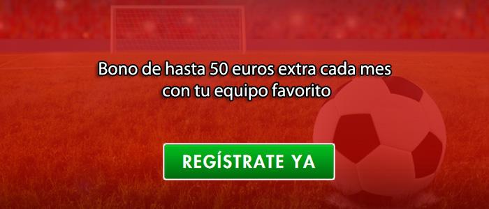 Bono de hasta 50 euros extra cada mes con tu equipo favorito