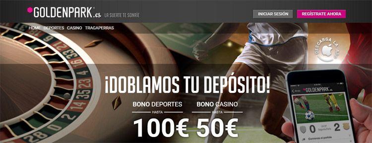 Nuevo bono de bienvenida de hasta 100€ ofrecido por Goldenpark