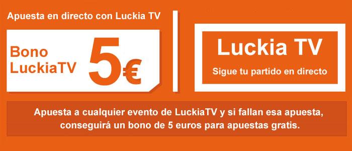 Nueva promoción Luckia TV de 5€