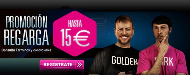 GoldenPark.es te presenta la Promoción Recarga de hasta 15 euros