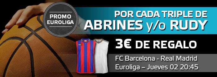 Promoción Triplazo para el partido de la Euroliga FC Barcelona - Real Madrid