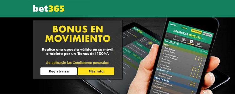 Bonus bet365 en movimiento